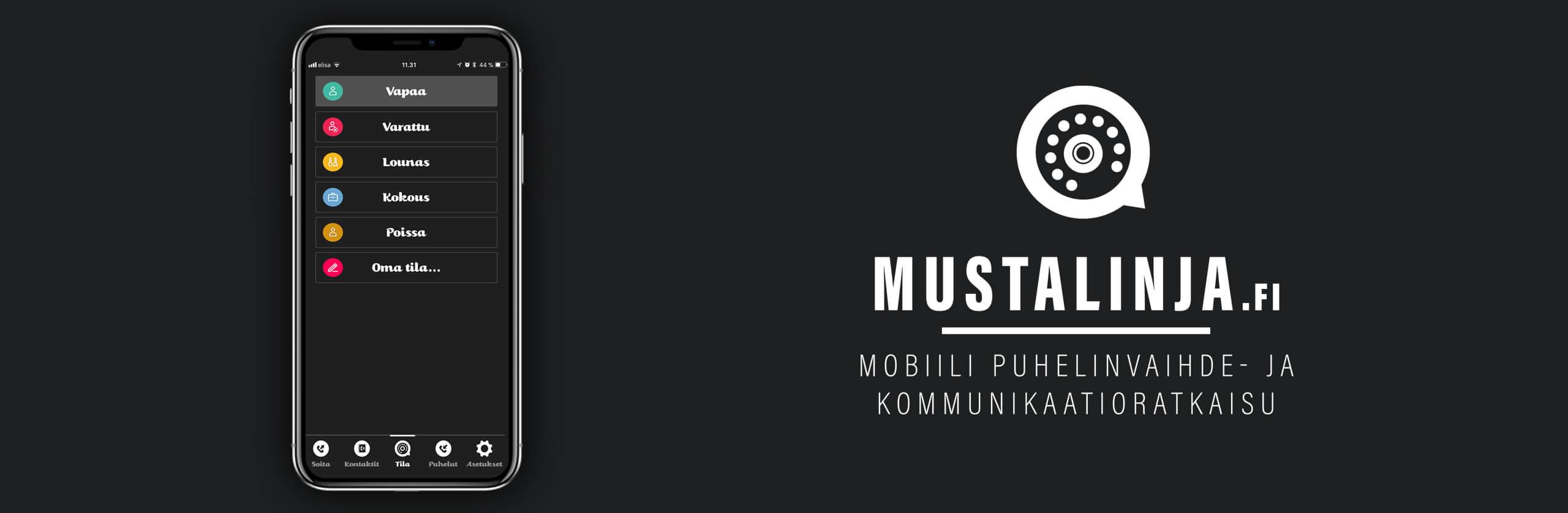 Mustalinja mobiilivaihde - mobiili puhelinvaihde- ja kommunikaatioratkaisu