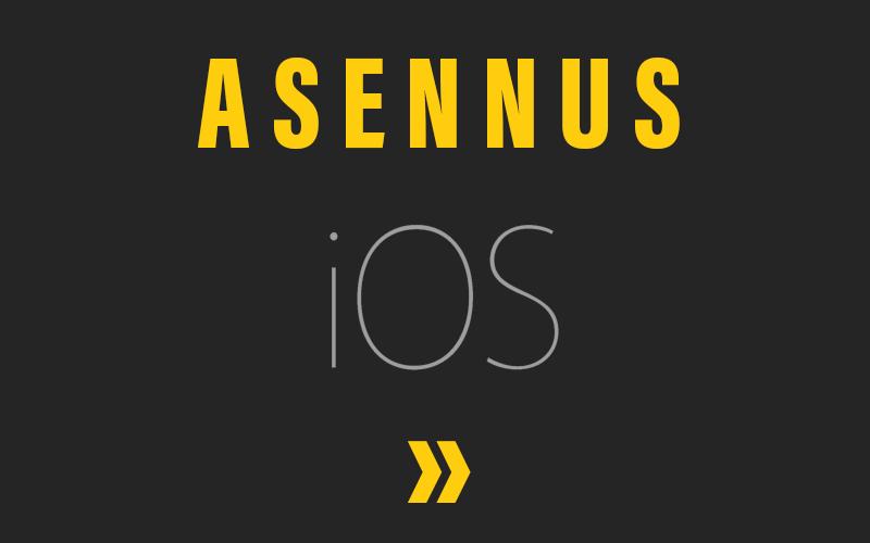 Mustalinjan asennus iOS-puhelimeen
