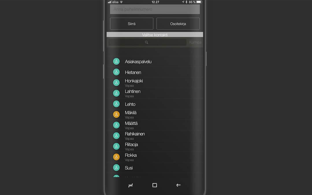 Sovelluksen asentaminen ja käyttöönotto Android-puhelimessa