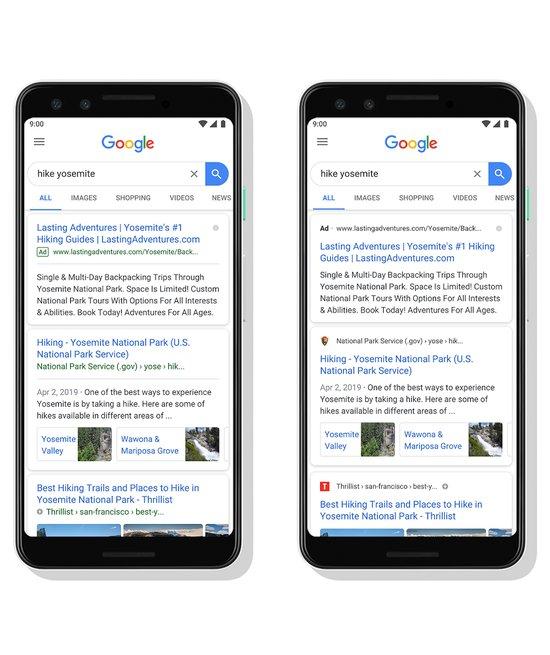 Googlen haku muuttuu – Ulkoasuun tehdään viilauksia